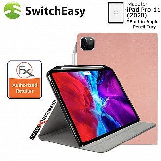 """Switcheasy Coverbuddy Folio Lite for iPad Pro 11 inch / 11"""" 2nd Gen 2020 - Pink Color ( Barcode: 4897094566071 )"""