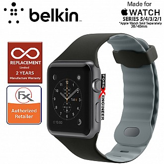 Belkin Sport Band for Apple Watch Series 5 / 4 / 3 / 2 / 1 ( 38mm / 40mm ) ( Blacktop ) ( Barcode : 745883722938 )