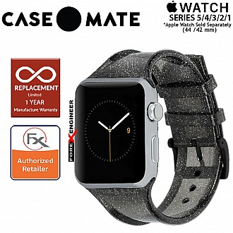 Case Mate Sheer Glam Band for Apple Watch Series SE / 6 / 5 / 4 / 3 / 2 / 1 ( 42 / 44 mm ) ( Noir ) ( Barcode : 846127166072 )