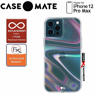 """Case Mate Soap Bubble with MicroPel for iPhone 12 Pro Max 5G 6.7"""" (Barcode: 846127195799 )"""