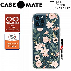 """Case Mate Rifle Paper Co. for iPhone 12 / 12 Pro  5G 6.1"""" - Wild Flowers with MicroPel (Barcode: 846127196246 )"""