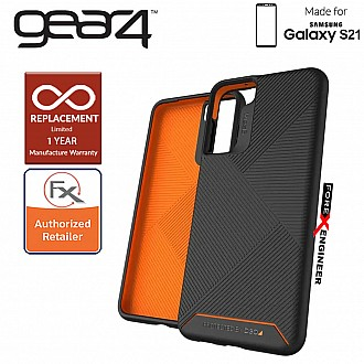 Gear4 Denali for Samsung Galaxy S21 - D3O Material Technology - Drop Resistant Up to 4 meters - Black (Barcode : 840056108523 )