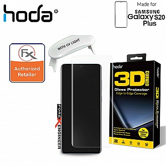Hoda Tempered Glass for Samsung Galaxy S20 Plus - 3D UV FULL GLUE 9H Screen Protector ( UV Lamp included ) ( Clear )