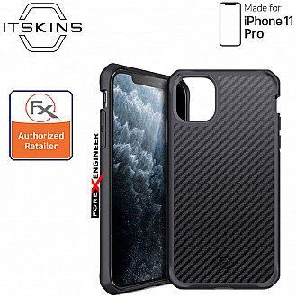 ITSkins Hybrid Fusion Carbon for iPhone 11 Pro ( Black 1 ) ( Barcode: 4894465050108 )
