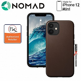 """Nomad Rugged Case for iPhone 12 MINI 5.4"""" ( Rustic Brown ) ( Barcode : 856500019222 )"""
