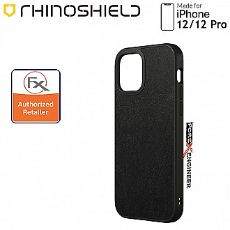 """Rhinoshield Solidsuit for iPhone 12 / 12 Pro 5G 6.1"""" - Leather Black ( Barcode : 4711033720532 )"""