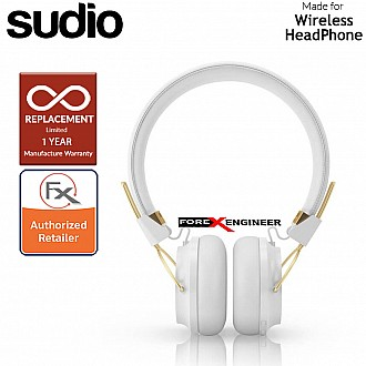 Sudio Regent 2 / Regent II Wirelss Headphone with Passive-Noise Isolation ( White ) ( Barcode : 7350071388792 )