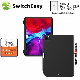 "[1 week delay due to custom issue] Switcheasy Coverbuddy for iPad Pro 12.9 inch /  12.9"" ( 4th Gen ) 2020 - Compatible with Magic Keyboard Only (Black) ( Barcode: 4897094566194 )"