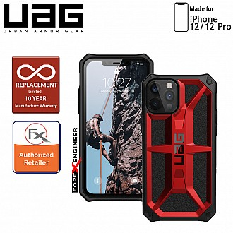 """UAG Monarch for iPhone 12 / 12 Pro 5G 6.1""""- Rugged Military Drop Tested - ( Crimson ) ( Barcode : 812451036060 )"""