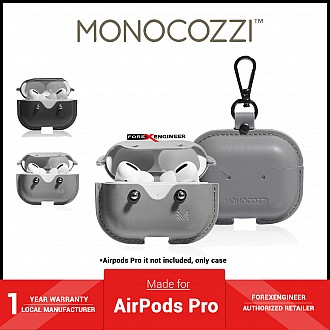 Monocozzi Exquisite for AirPods Pro - Genuine Leather Case  - Light Grey ( Barcode : 4895199105911 )