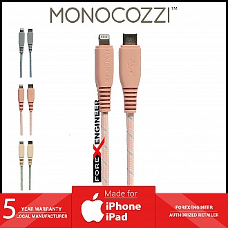 Monocozzi Motif Braided USB-C to Lightning Cable ( 100cm ) - Coral (Barcode: 4895199105331 )