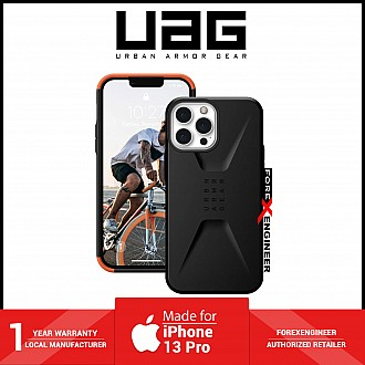 """UAG Civilian for iPhone 13 Pro 5G 6.1"""" - Black  (Barcode: 810070363130 )"""