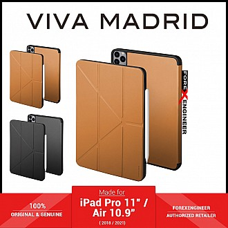"""VIVA MADRID Elegante for iPad Pro 11"""" / Air 10.9"""" ( 2021 - 2018 ) M1 Chip - Microfibre with Antimicrobial - Brown (Barcode: 8886461238105 )"""