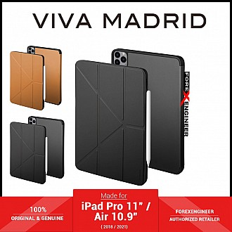 """VIVA MADRID Elegante for iPad Pro 11"""" / Air 10.9"""" ( 2021 - 2018 ) M1 chip - Microfibre with Antimicrobial - Black (Barcode: 8886461238099 )"""