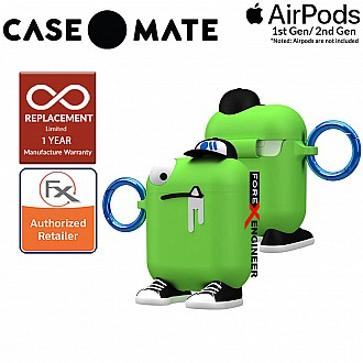 Case Mate CreaturePods for Airpods Series 1 & 2 - Chuck The Cool Guy Case with Blue Carabiner Clip  ( Barcode : 846127187039 )