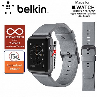 Belkin Classic Leather Band for Apple Watch Series SE / 6 / 5 / 4 / 3 / 2 / 1 ( 42mm / 44mm ) ( Gray ) ( Barcode : 745883723751 )