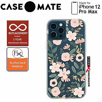 """Case Mate Rifle Paper Co. for iPhone 12 Pro Max 5G 6.7"""" - Wild Flowers with MicroPel (Barcode: 846127195898 )"""