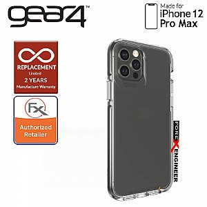 """Gear4 Piccadilly for iPhone 12 Pro Max 5G 6.7"""" - D3O Material Technology - Drop Resistant Up to 4 meters (Black) (Barcode : 840056128231 )"""