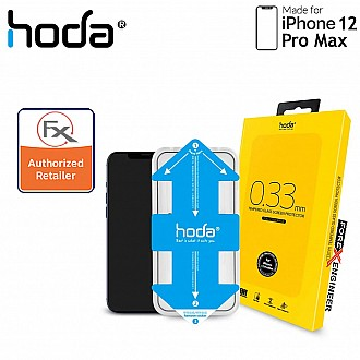 Hoda Tempered Glass for iPhone 12 Pro Max 6.7 inch - 2.5D 0.33mm Full Coverage Tempered Glass  with Helper - Clear (Barcode : 4713381519028 )
