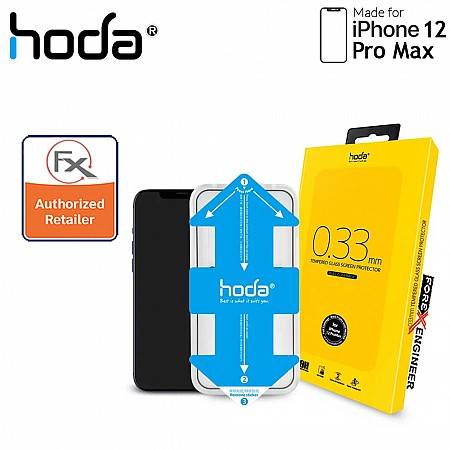 Hoda Tempered Glass for iPhone 12 Pro Max 6.7 inch - 2.5D 0.33mm Full Coverage Tempered Glass  with Helper - Clear (Barcode : 4713381519028 )_[RACK CLEARANCE]