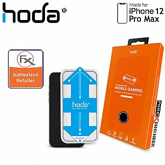 """Hoda Tempered Glass for iPhone 12 Pro Max (6.7"""") Anti-Glare - 2.5D 0.33mm Full Coverage Tempered Glass  with Helper - Matte (Barcode : 4713381519295 )"""