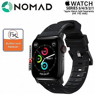 Nomad Rugged Strap Version 2 for Apple Watch 44mm / 42mm Series SE / 6 / 5 / 4 / 3 / 2 ( Black ) ( Barcode: 856500018645 )