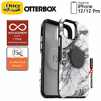 """OTTER + POP Symmetry for iPhone 12 / iPhone 12 Pro 5G 6.1"""" - White Marble (Barcode : 840104216057 )"""