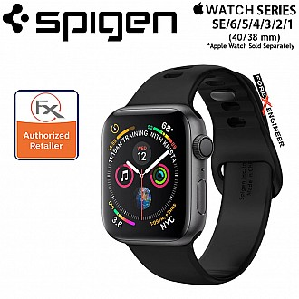 Spigen Silicone Air Fit for Apple Watch SE/6/5/4/3/2/1 (40/38 mm) - Black (Barcode : 8809613768848 )
