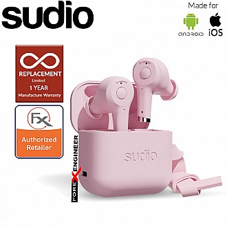 Sudio ETT Wireless Earbuds with  Environmental Noise-Canceling Microphones ( Pink ) ( Barcode : 7350071382370 )