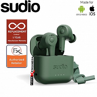 Sudio ETT Wireless Earbuds with  Environmental Noise-Canceling Microphones ( Green ) ( Barcode : 7350071382387 )