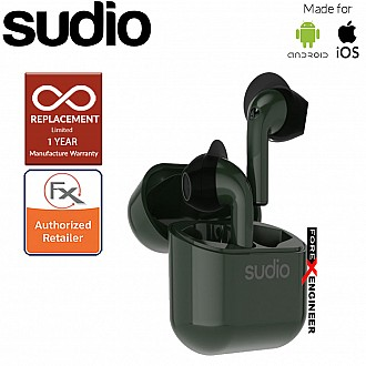 Sudio Nio Wireless Earbuds with  Environmental Noise-Canceling Microphones ( Green ) ( Barcode : 7350071385104 )