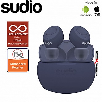 Sudio Tolv R - True Wireless Earbuds and Long Lasting Battery ( Classic Blue ) ( Barcode : 7350071384398 )