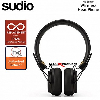 Sudio Regent 2 / Regent II Wirelss Headphone with Passive-Noise Isolation ( Black ) ( Barcode : 7350071388808 )