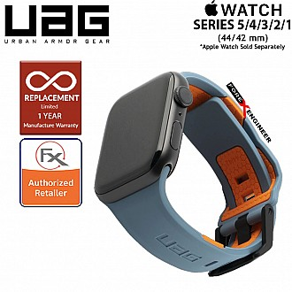 UAG Civilian Strap for Apple Watch 44mm / 42mm Compatible for Series 5 / 4 / 3 / 2 / 1 - Stainless steel hardware ( Slate / Orange ) ( Barcode : 812451034912 )