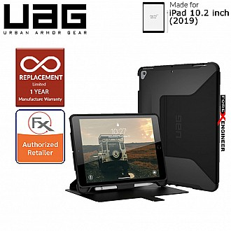 "UAG Scout with Folio for iPad 10.2 inch / 10.2"" ( 7th Gen ) - Built-in Kickstand and Apple Pencil Holder ( Black ) ( Barcode : 812451034943 )"