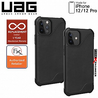 "UAG Metropolis LT for iPhone  12 / 12 Pro 5G 6.1"" - ( Leather Black )  ( Barcode : 812451037043 )"