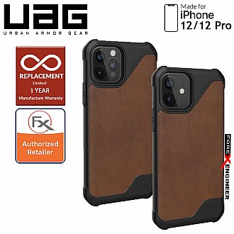 """UAG Metropolis LT for iPhone  12 / 12 Pro 5G 6.1"""" - ( Leather Brown )  ( Barcode : 812451037050 )"""