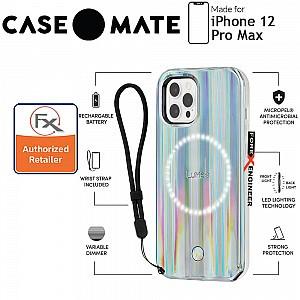 """Case Mate LuMee Holographic for iPhone 12 Pro Max 5G 6.7"""" - Paris Hilton Edition with MicroPel (Barcode: 846127197175)"""
