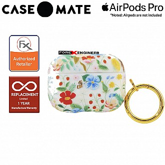 Case Mate Airpods Pro Rifle Paper - Clear Strawberry Fields ( Barcode : 846127198837 )