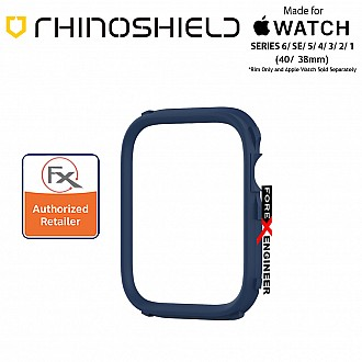 Rhinoshield RIM for Apple Watch 40mm / 38mm Series 6 / SE / 5 / 4 / 3 / 2 / 1 - Use with Rhinoshield CrashGuard NX - Navy Blue (Barcode: 4711033726909)