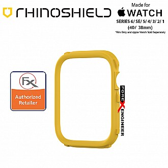 Rhinoshield RIM for Apple Watch 40mm / 38mm Series 6 / SE / 5 / 4 / 3 / 2 / 1 - Use with Rhinoshield CrashGuard NX - Yellow (Barcode: 4710562401967)
