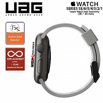 UAG [U] Dot Silicone Strap for Apple Watch Series SE / 6 / 5 / 4 / 3 / 2 / 1 ( 40mm / 38 mm ) - Grey (Barcode: 812451036251 )