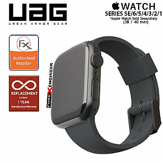UAG [U] Dot Silicone Strap for Apple Watch Series SE / 6 / 5 / 4 / 3 / 2 / 1 ( 40mm / 38 mm ) - Black (Barcode: 812451036268 )