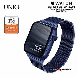 UNIQ Dante Stainless Steel Strap for Apple Watch Series SE / 6 / 5 / 4 / 3 / 1 ( 40mm / 38mm ) - Blue (Barcode: 8886463675755 )