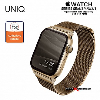 UNIQ Dante Stainless Steel Strap for Apple Watch Series SE / 6 / 5 / 4 / 3 / 1 ( 44mm / 42mm ) - Gold (Barcode: 8886463675793 )