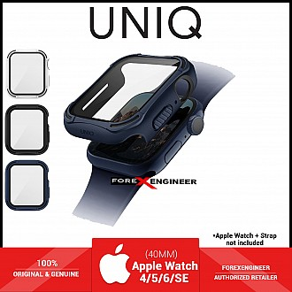 UNIQ TORRES Watch Case with 9H Tempered Glass for Apple Watch Series SE / 6 / 5 / 4 ( 40mm) - Blue (Barcode: 8886463676318 )