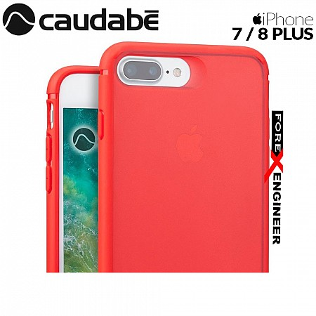 Caudabe The Synthesis for iPhone 7 / 8 Plus Premium Ultra Thin with Protection Case - Red