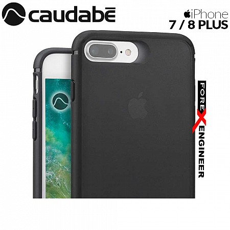 Caudabe The Synthesis for iPhone 7 / 8 Plus Premium Ultra Thin with Protection Case - Stealth Black