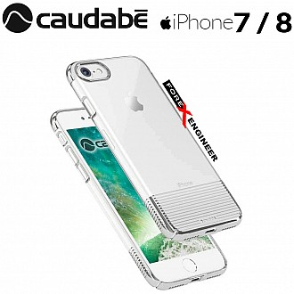 Caudabe Lucid Clear for iPhone 7 / 8 - Silver Metallic color