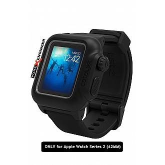 Catalyst Water Proof Shock Resistant Case for Apple Watch 42mm Series 2 (Stealth Black)